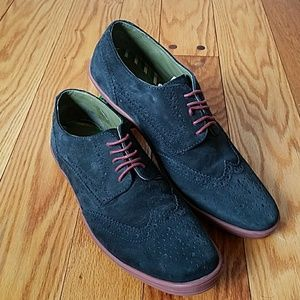Base London Perform Suede Oxford Derby Shoes